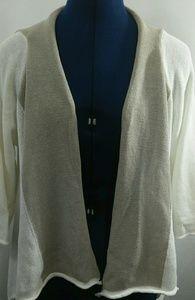 KOKOMARINA Linen Bl Open Front Cardigan Sweater XS